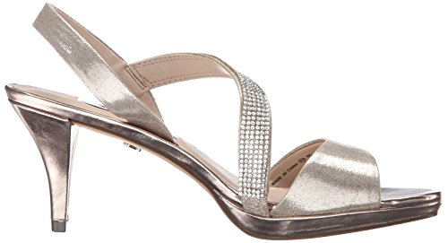 Nina Womens Novelle-FY Dress Pump Taupe Reflective Suedette