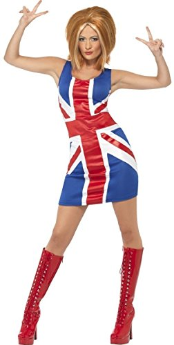 Ladies Sexy Posh Ginger Baby Scary Sporty Spice Girls 1990s Celebrity Hen Do Halloween Fancy Dress Costume Outfit UK 8-18 (UK 16-18 ()