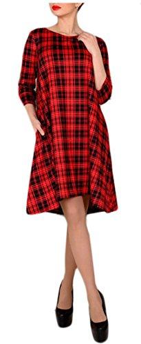 GenericWomen Generic Womens Print Cowl Neck 3/4 Sleeve Leisure Dress 1 S by GenericWomen