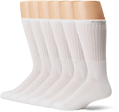 Calvin Klein Men's 6 Pair Bonus Crew, White, 7-12 by Calvin Klein