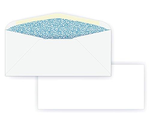 #9 Regular Envelope - Blue Inside Tint - 24# White (3 7/8 x 8 7/8) - Commercial Envelope Series (Box of 1000)