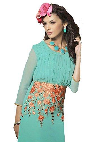Jayayamala Boho Stil Hande Stickerei-Kleid für Mädchen