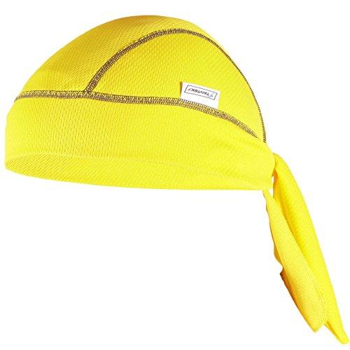 STANSR0054 STANTEKS gelb Bandana Cap Kopftuch Bikertuch Active Sport Biker in vielen Farben Radsport Unisex one size (gelb)