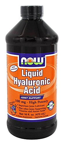 NOW Foods - Liquid Hyaluronic Acid High Potency Berry Flavor 100 mg. - 16 (Hyaluronic Acid Berry)