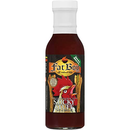 Fat Barbecue - Fat Boy Natural BBQ Sticky Stuff BBQ Sauce, 12 Ounce