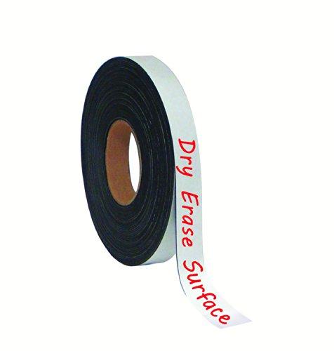 "Master Vision Tape Roll Magnetic Dry Erase , 1"" x 50' White"