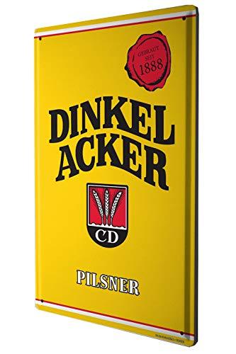 (LEotiE SINCE 2004 Tin Sign Metal Plate Decorative Sign Home Decor Plaques Dinkelbräu 1888 Dinkelacker Pilsener Lager Beer Stout Light Wheat Beer Old Advertising in Yellow 20x30 cm)