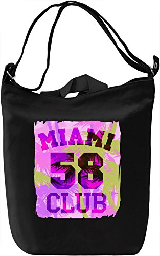 Miami Club 58 Borsa Giornaliera Canvas Canvas Day Bag| 100% Premium Cotton Canvas| DTG Printing|
