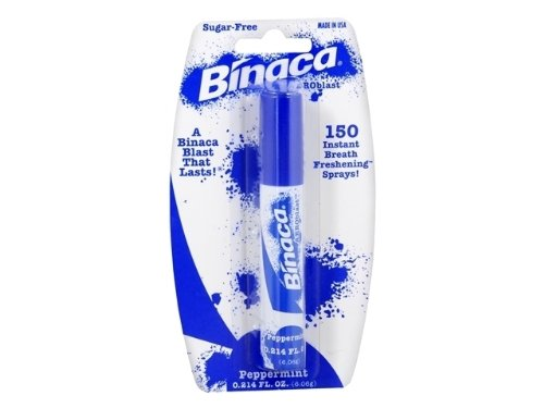 Binaca Aerosol Breath Spray PepperMint 0.20 oz (Pack of 2) -