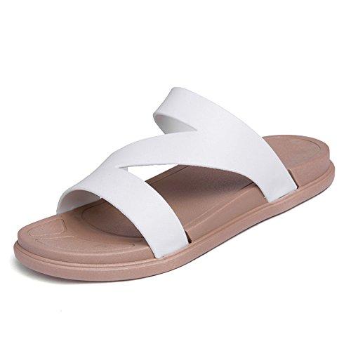 da da da Bianca caviglia Cinturino Scarpe Dimensione alla Color 37 e EU uomo donna uomo piatto Nero shoes Jiuyue U8PwvqX8