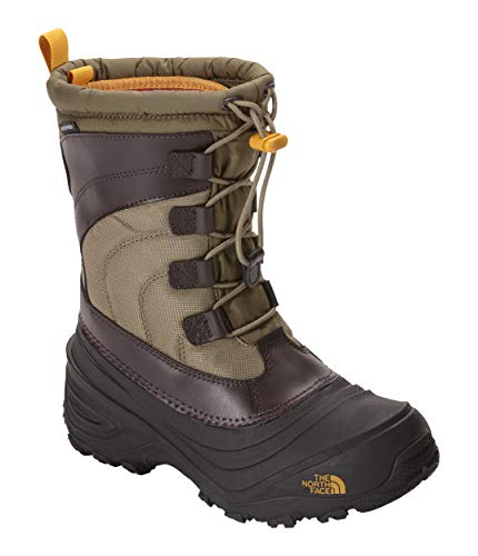 - The North Face Alpenglow IV Boot, Burnt Olive Green/Arrowwood Yellow, 11 M US Boys