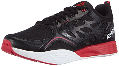 Reebok Women's Cardio Inspire Low Indoor Court Shoes Black - Schwarz (Black/Blazing Pink/White) OwmtJz1K
