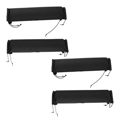 MagiDeal 4 Pieces Soft Padded Car Roof Bar Rack Pads Universal for Kayak Canoe Surfboard Snowboard Paddleboard Protection by Unknown