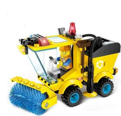 Diy Animal Control Costume (ENLIGHTEN City Series Sweeper Truck Building Blocks Compatible with Lego City Construction Blocks Toy for Children Boys by Completestore)