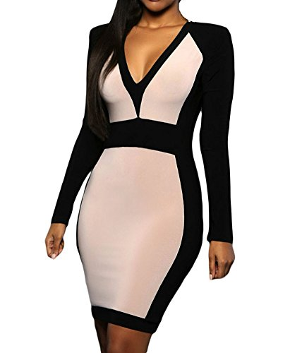 Womens Sexy Neck Sleeve Dress