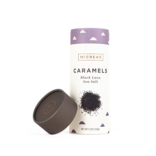 McCrea's Candies Black Lava Sea Salt Caramels, 5.5 Ounce (Caramel Medium Finish)