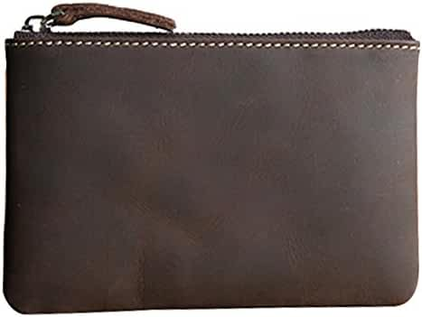 Coin Purse Pouch Fmeida Men's Leather Zipper Change Wallet