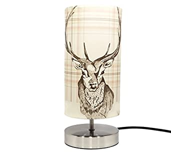 Stag Lamp Light Lampshade Bedside Bedroom Table Desk Lamp