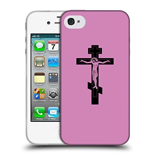 GoGoMobile Coque de Protection TPU Silicone Case pour // Q07800618 Christian Cross 5 Bronze // Apple iPhone 4 4S 4G