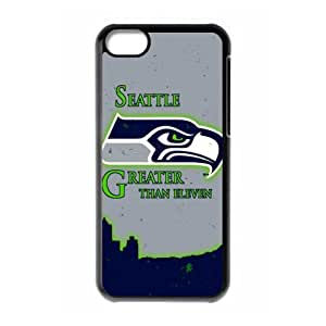 JIUBIE Custom Cover NFL Seattle Seahawks Logo for iPhone 5C Hard Plastic Case