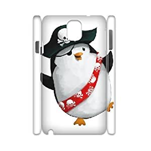 3D Stevebrown5v Penguin Samsung Galaxy Note 3 Case Girl Protective Cute Pirate Penguin, Samsung Galaxy Note 3 Case For Girls [White]