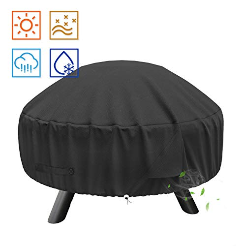 SHINESTAR Fire Pit Cover for Landmann Big Sky Fire Pit, Heavy Duty Waterproof 32 Inch Round Fire Pit Cover