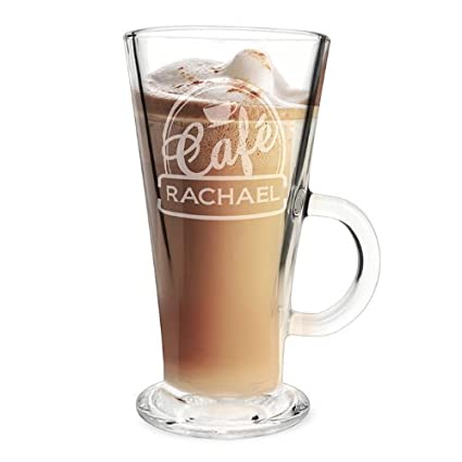 0caf519f4d5 Personalised Engraved Bistro Style Latte Glass