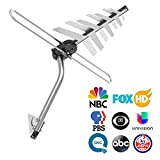 Outdoor TV Antenna, CHARAVECTOR 150 Miles Range Digital HDTV Antenna with VHF/UHF Signal