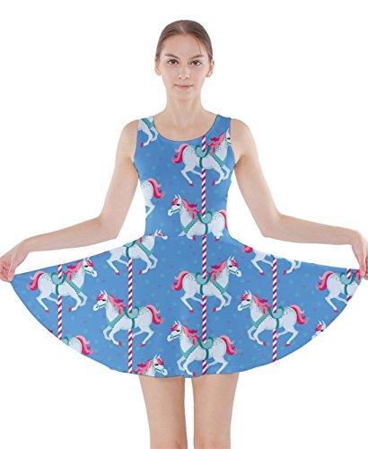 CowCow - Vestido - para mujer azul claro