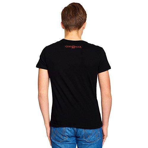 Logo Black Of Cotton Nero Game Da God War Eu Red Uomo Bioworld Maglietta PqTwzT