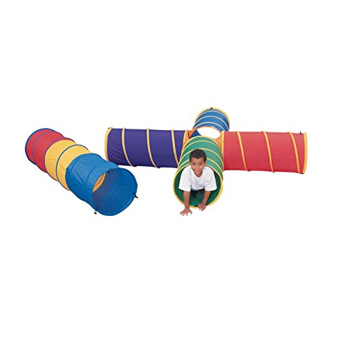 Abilitations Nylon SuperCrawl Tunnel with Closed Toggles and Storage Bag - 20 inches x 6 foot