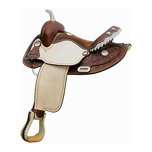 Billy Cook Saddlery Combs Floral Barrel Saddle 15I