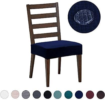 DEZENE Fundas para sillas de Comedor (Paquete de 2): Repelente al ...