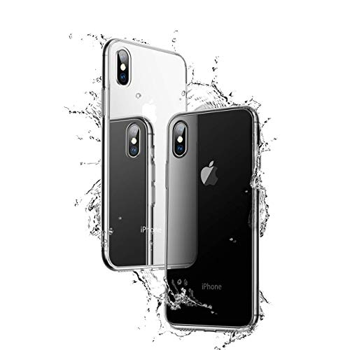 NganHing Clear Case Compatible iPhone X TPU Gel Soft Silicone Protector