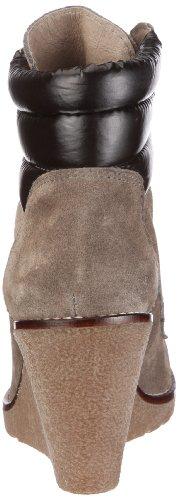 Buffalo London ES 10331 SUEDE NYLON - Botines de cuña con cordones, color: Marrón Gris