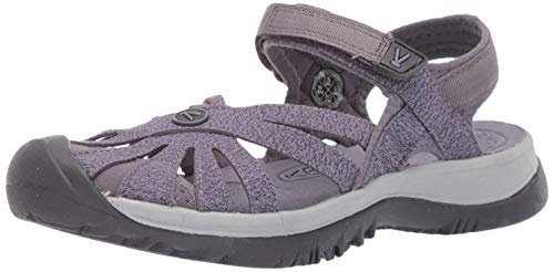(KEEN Women's Rose Sandal Slipper, Shark/Lavender Grey, 9.5 M US)