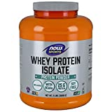 NOW Sports Nutrition, Whey Protein Isolate Powder, Unflavored, 5-Pound