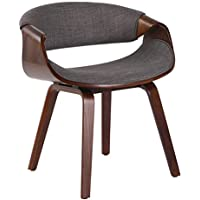 Porthos Home KCH034A Gry Living Room Chair with Fabric Upholstery and Wooden Legs (Mid-Century StyleVarious Colors), One Size, Grey