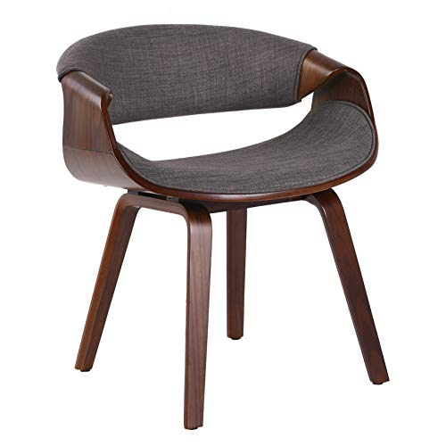 Porthos Home KCH034A Gry Living Room Chair with Fabric Upholstery and and Wooden Legs (Mid-Century StyleVarious Colors), One Size, Grey (Best Living Room Chairs For Posture)