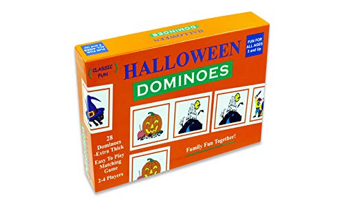 Halloween Dominoes - the perfect Halloween Party Game - The Original Halloween Dominoes Game with Halloween-themed pieces for a fun-filled Halloween House -