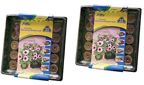 Jiffy 42mm Professional Greenhouse 25-Plant Starter Kit (2 Pack) by Jiffy