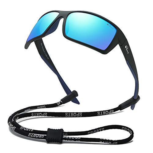 Bevi Sports Sunglasses Polarized Lens/TR 90 Frame with Spring Hinges Glasses For Men Women Cycling Running Baseball 2677C2