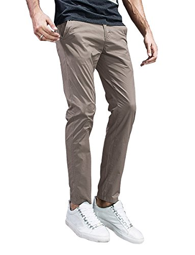 Match Mens Slim-Tapered Flat-Front Casual Pants (32, 8105 Apricot) (Best Slim Fit Golf Pants)