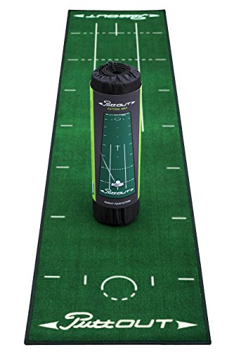 PuttOut Pro Golf Putting Mat - Perfect Your Putting (7.87-feet x 1.64-feet) (Green)