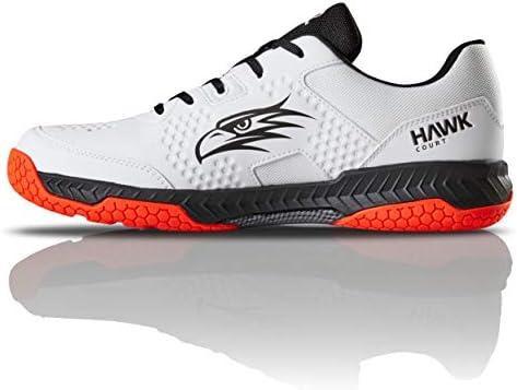 メンズ Hawk Court Squash インドアマルチスポーツシューズ 8.5 ホワイト