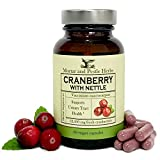 Extra Strength Cranberry with Organic Nettle Capsules - 12,500 mg Fresh Cranberries per