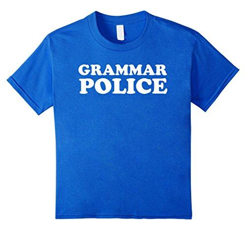 Kids Funny Grammar Police Sarcastic Halloween Costume T Shirt 10 Royal Blue - Grammar Girl Costume