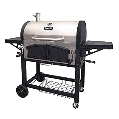 Dyna-Glo DGN576SNC-D Dual Chamber Stainless Steel Charcoal BBQ Grill from GHP-Group Inc