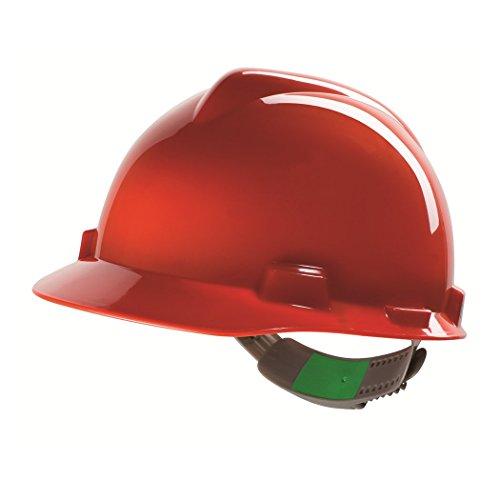 Casco de Protección MSA V-Gard 200 con Ventilación y Ajuste por Trinquete FasTrack - Casco de Trabajo Casco de Seguridad Casco de Construcción, ...