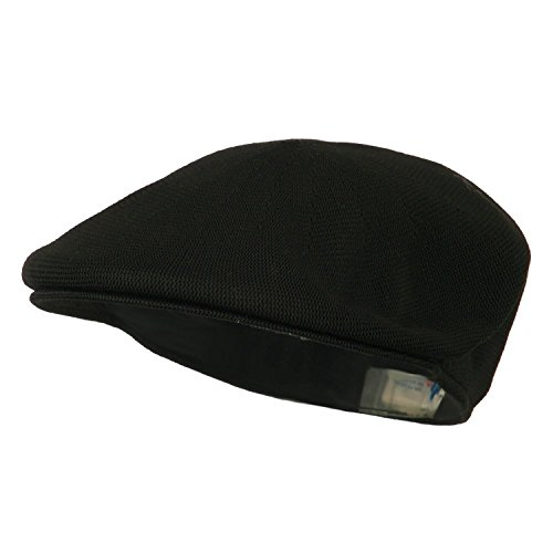 MG Men's Knitted Ivy Newsboy Cap Hat (Black)